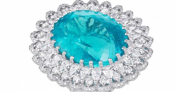 秒殺紅毯的獨家珠寶!蕭邦帕拉伊巴碧璽鑽戒