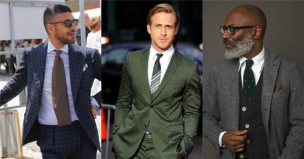 清雅風格,以綠色領帶點綴的4種配法