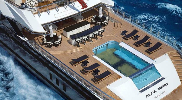 Superyacht俱樂部大佬 超級遊艇母艦Oceanco Alfa Nero
