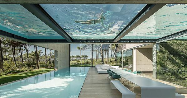 设计清奇的二层游泳池别墅 The Wall House