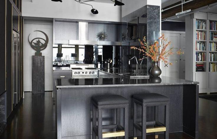 時尚黑力量!20個以黑色為主的廚房設計