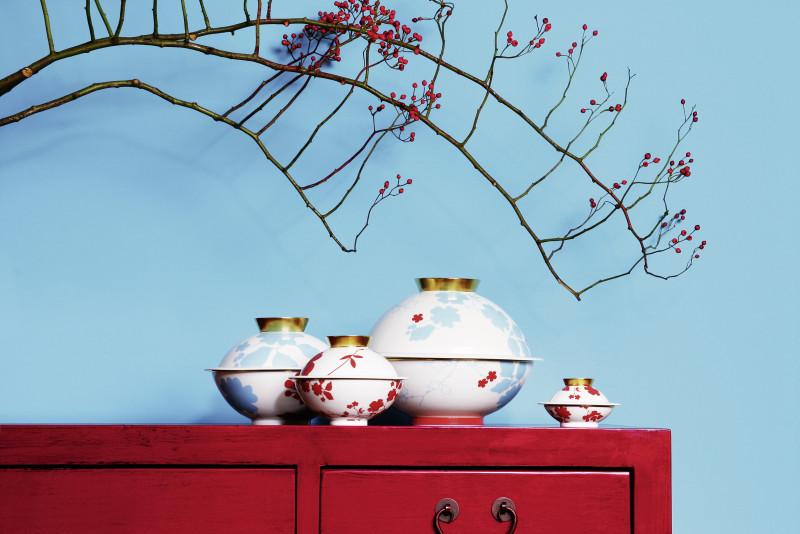 SIEGER by FÜRSTENBERG新品 MY CHINA! EMPERPR'S GARDEN 躍上餐桌的一抹緋紅