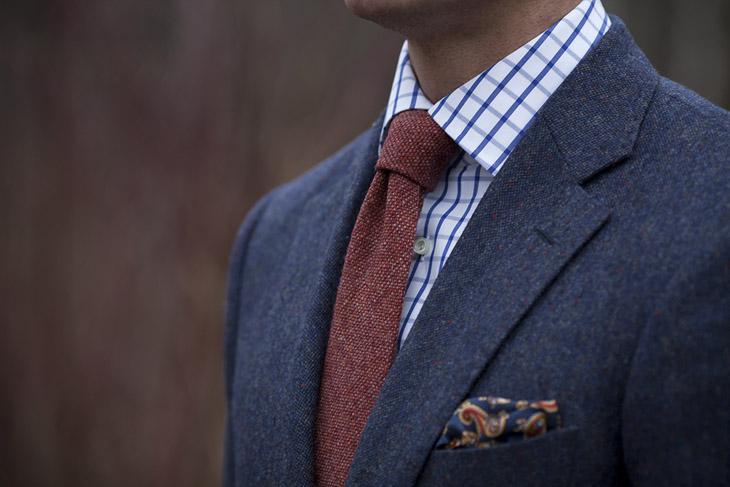 最常见的4种正装口袋巾摺法