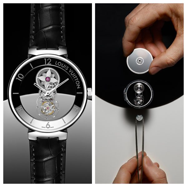路易威登Tambour Moon Mysterieuse Flying Tourbillon  如花盛開的製錶精神