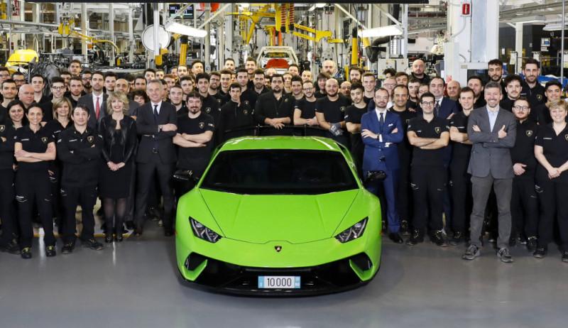 第一萬輛目標達成  Lamborghini Huracán下線