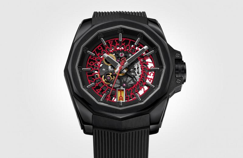 追求看得更透徹 CORUM海軍上將鏤空腕錶