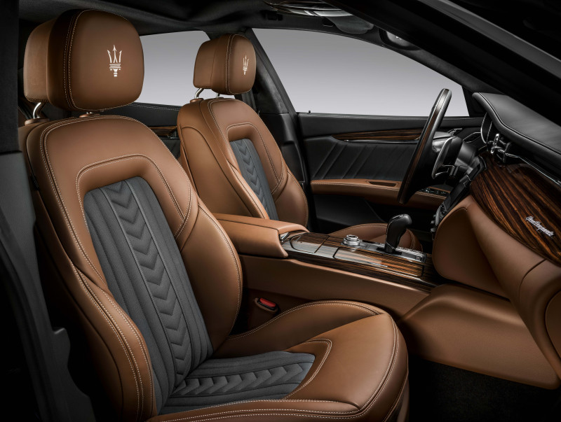 车舱等级提升!  Maserati GranLusso Zegna Edition以蚕丝绸打造内装