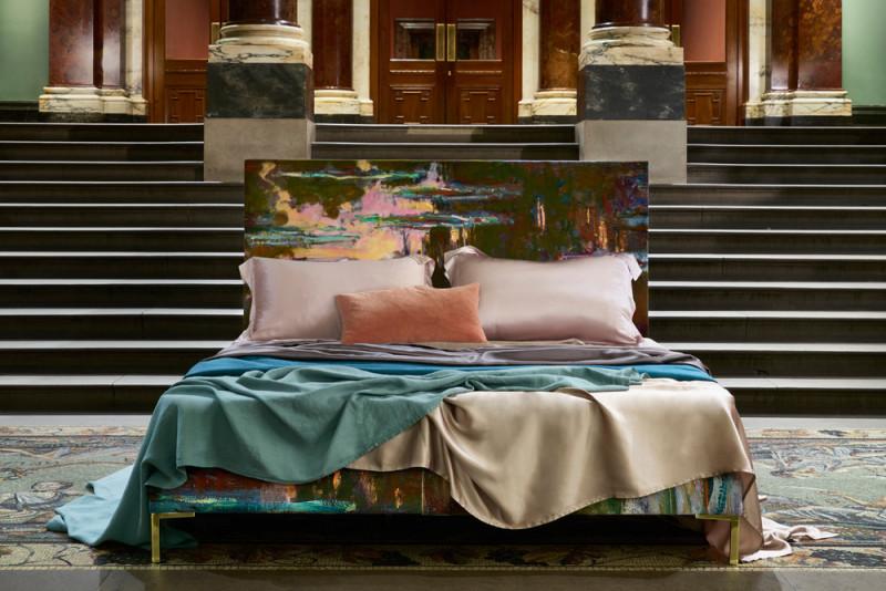 联手英国国家博物馆 SAVOIR BEDS打造莫内典藏画作装饰床