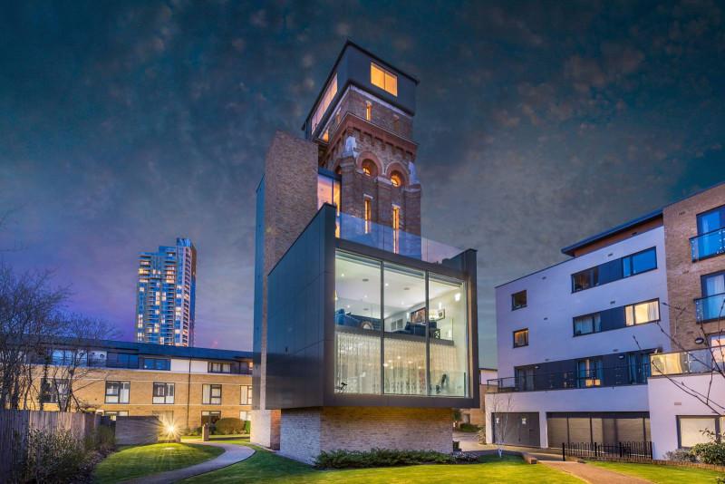 改建自水塔的倫敦市特色獨棟美宅