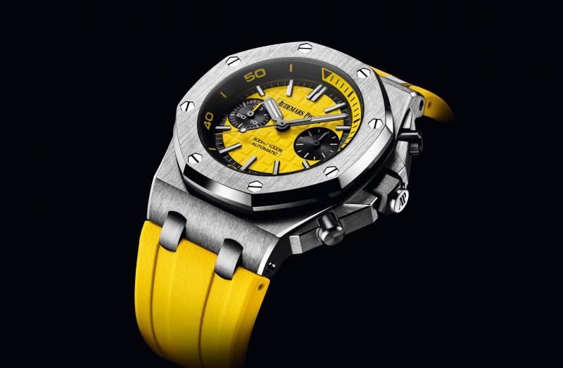 夏日就是要活力充沛 愛彼皇家橡樹離岸型潛水計時碼錶