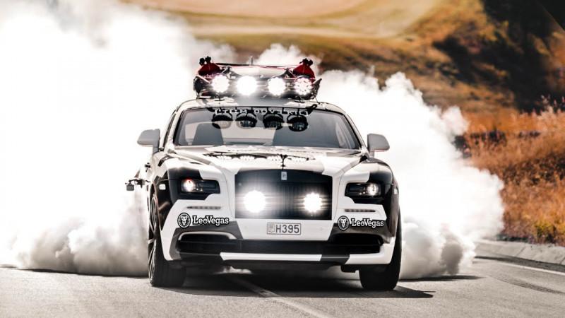 比劳斯莱斯魅影新车贵 Rolls-Royce Wraith雪地迷彩版出售中