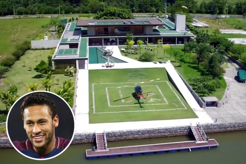 國際足壇身價前三!足球明星內馬爾的夢想豪宅