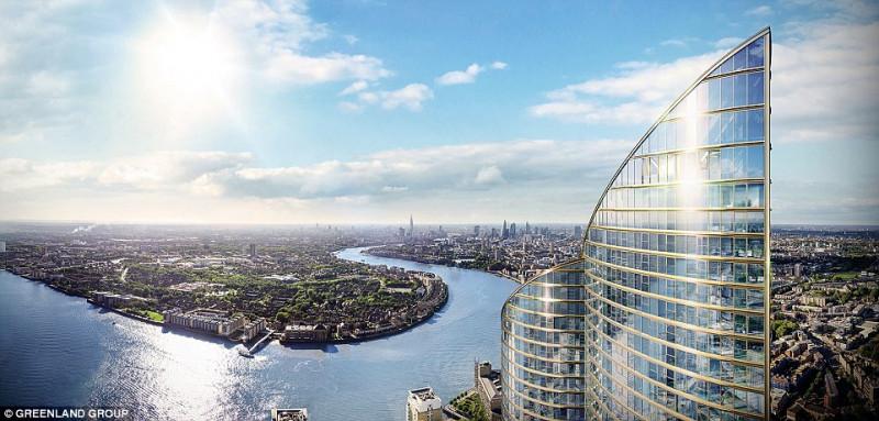 英國最高的公寓大樓 倫敦之巔Spire London