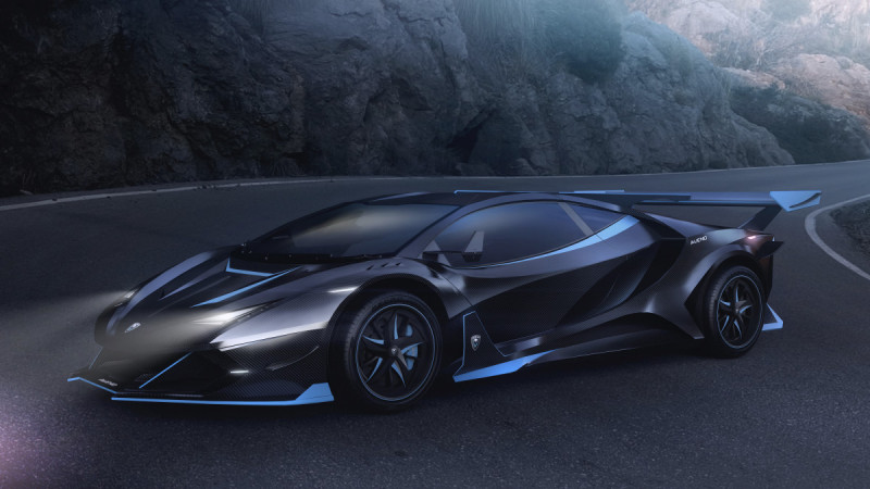 號稱極速超過480km 電動超跑Alieno Arcanum