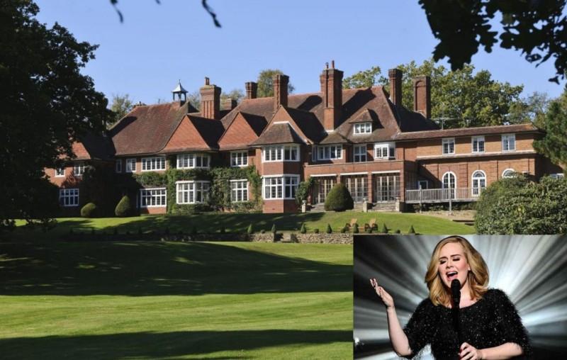 歌后Adele的豪華莊園  娛樂設備一應俱全