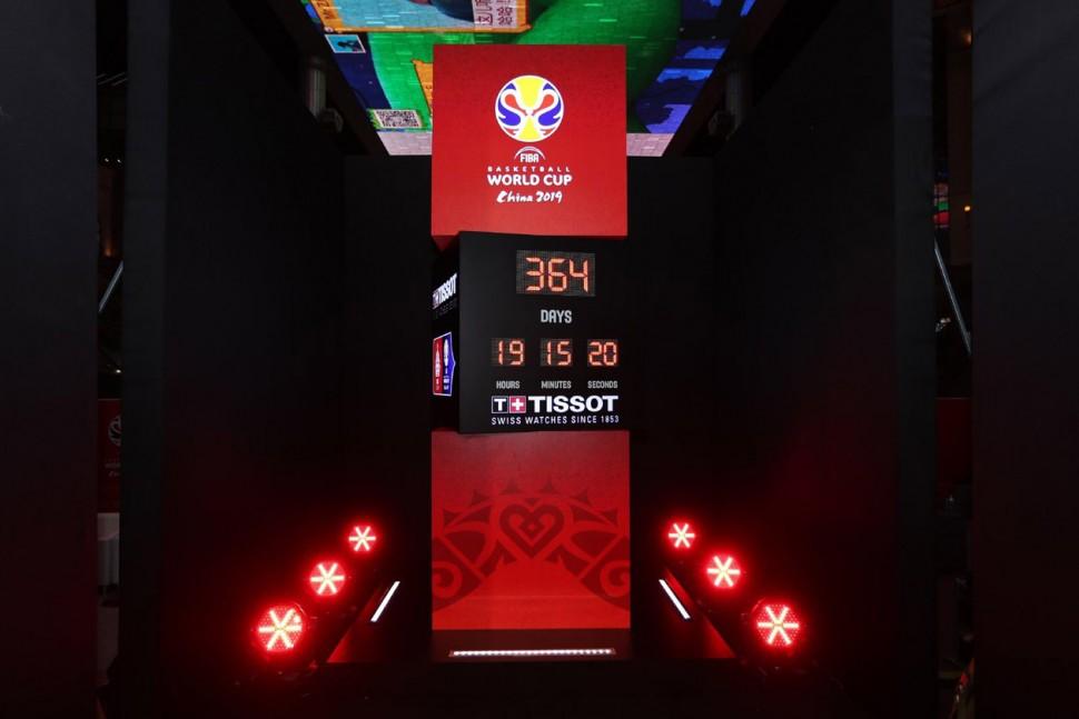 天梭表为2019年国际篮联篮球世界杯开启一周年倒计时 首站揭幕仪式点亮北京