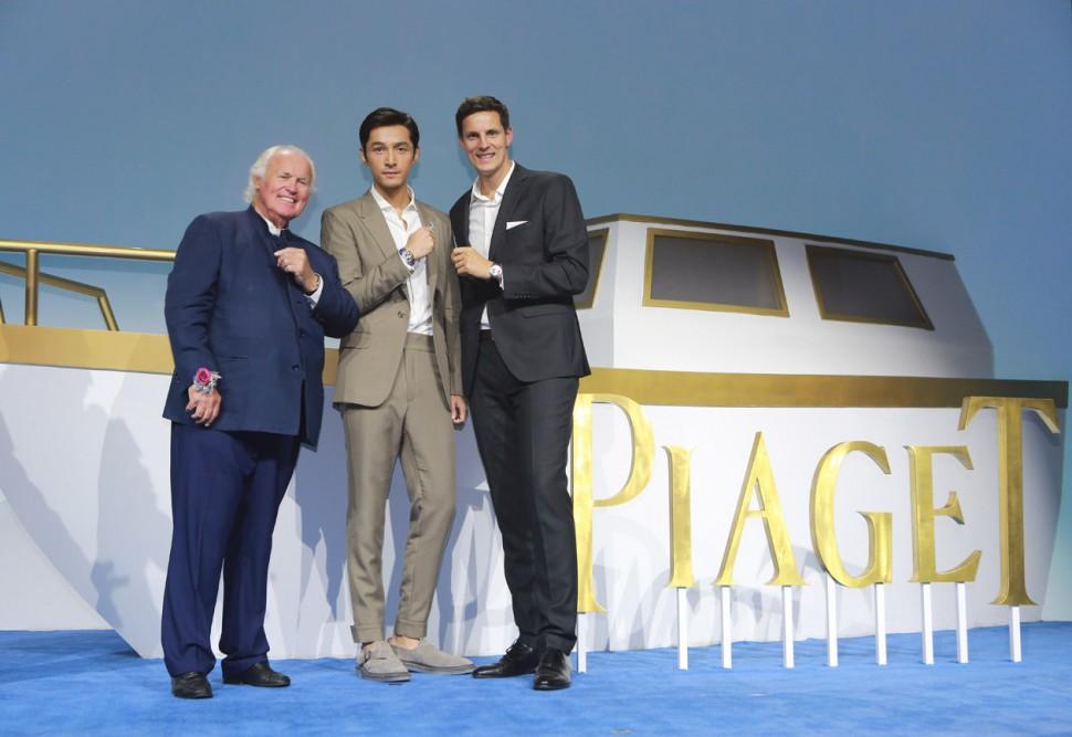 突破極限 釋義優雅 品牌推廣大使胡歌與伯爵家族第四代傳人共同領略ALTIPLANO超薄腕錶的至臻魅力