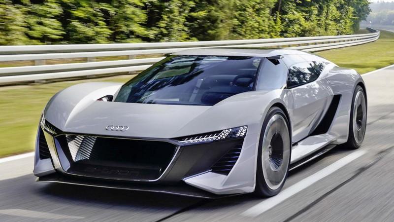 500公里卓越續航力 奧迪純電概念超跑Audi PB 18 e-tron