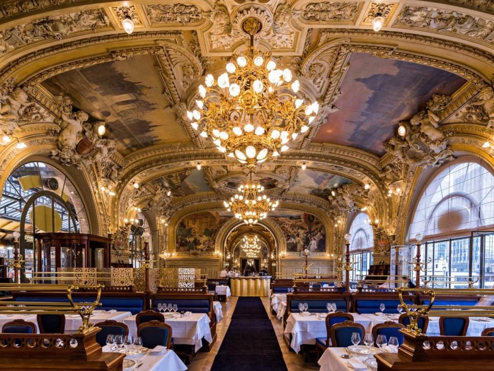 巴黎百年火車餐廳Le Train Bleu 連豆豆先生都曾在此打卡