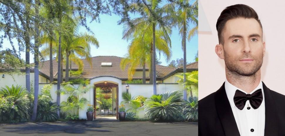 帥氣奶爸魔力紅Adam Levine  豪扔千萬購置豪宅安頓妻小