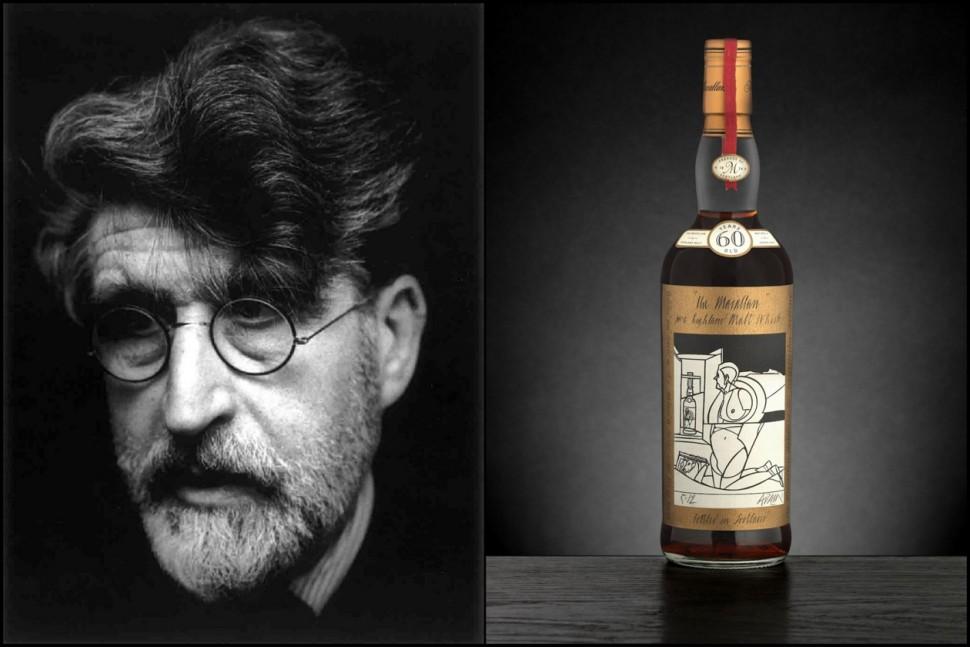 最新出爐的威士忌之王 60年Valerio Adami設計酒標的麥卡倫威士忌