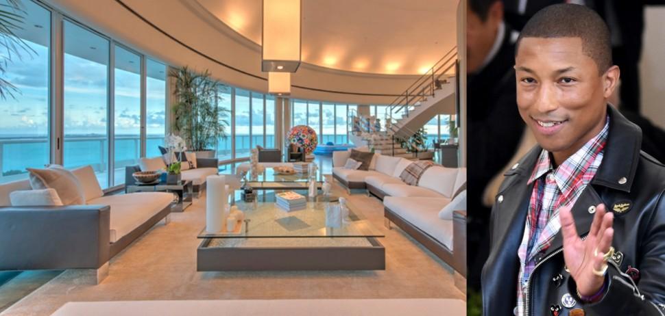 顶楼才有的无价景观 Pharrell Williams千万美金的迈阿密艺术豪宅