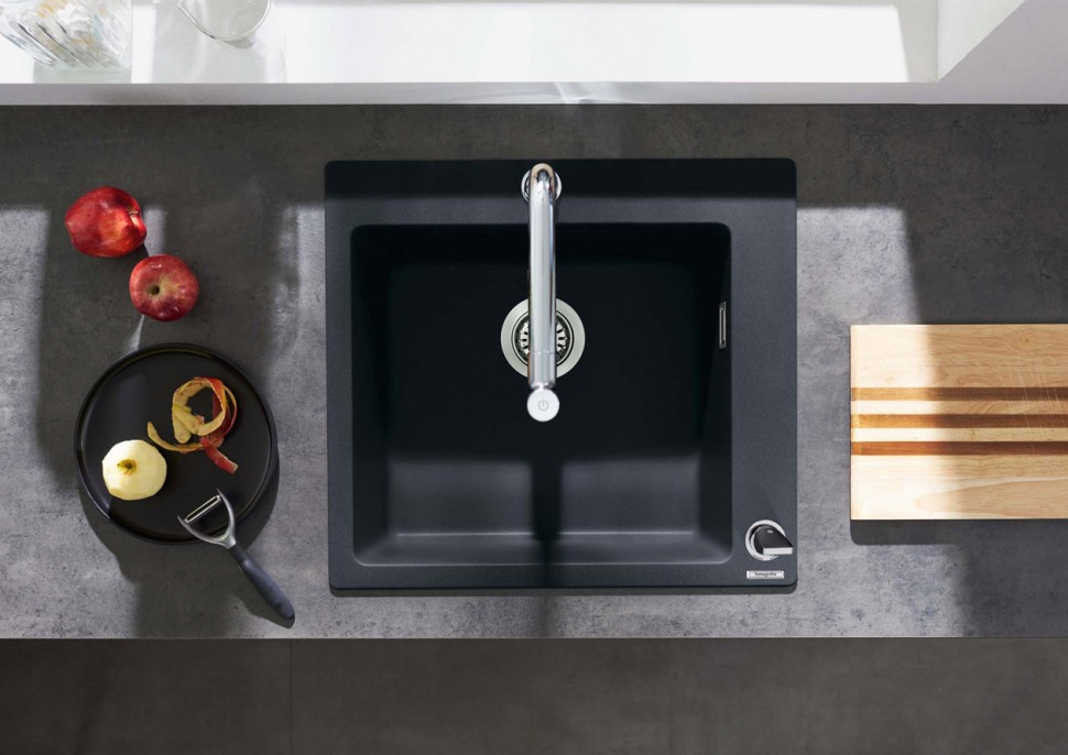 hansgrohe SilicaTec花崗岩廚房水槽為廚房披上優雅色彩