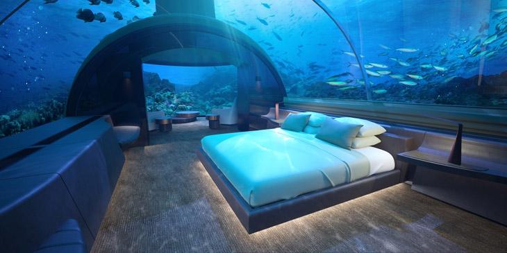 終於開幕了! 入住馬爾地夫全球首個海底酒店Muraka 讓魚群伴你入睡