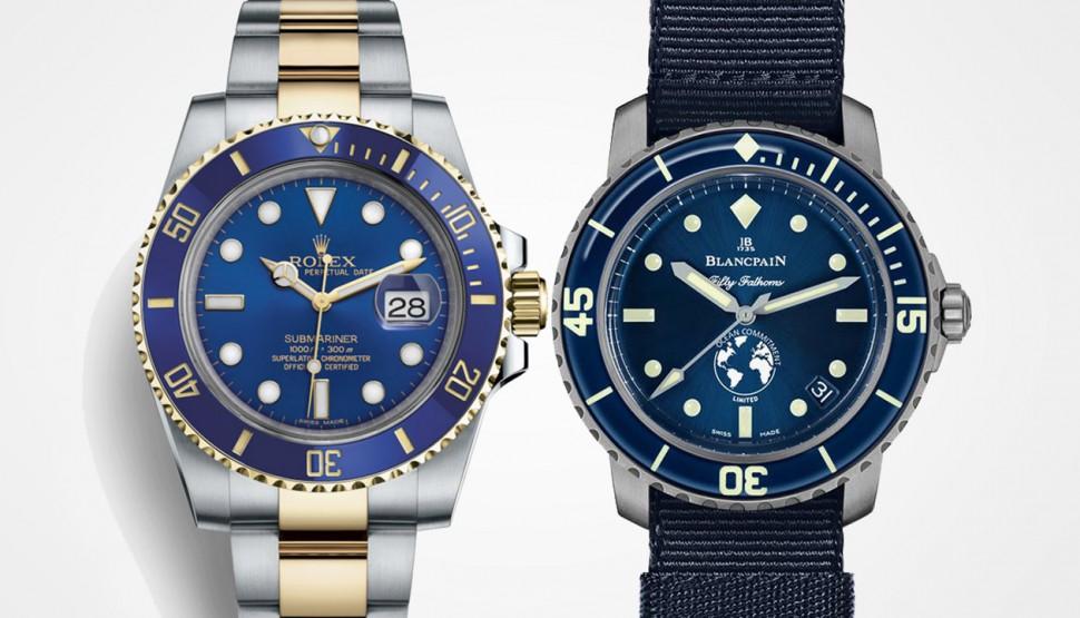 潛水錶界的兩大A咖 BLANCPAIN五十噚與ROLEX水鬼