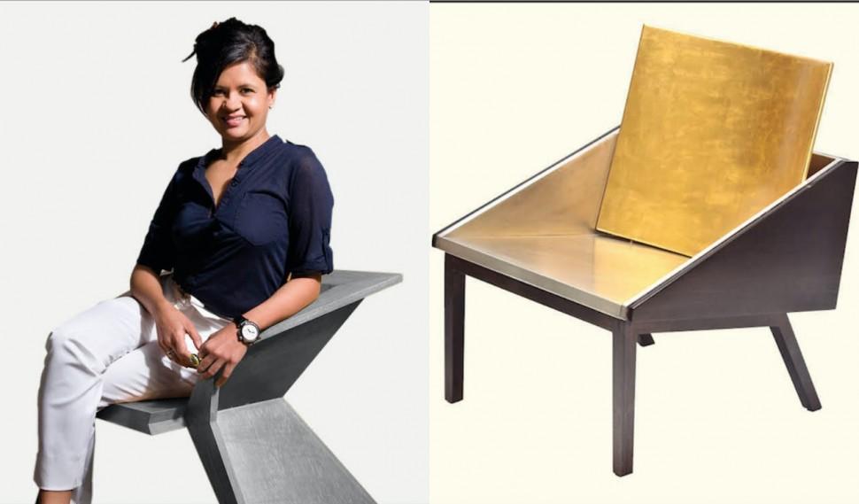 黃金打造的單椅 The Eastern Recline Chair