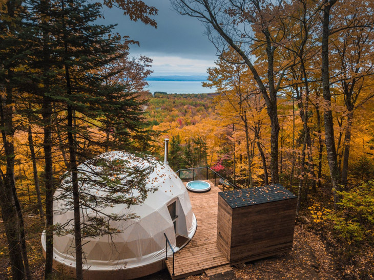 加拿大建築師建穹頂屋作環保賞楓區 紅葉之旅也可以如詩夢幻